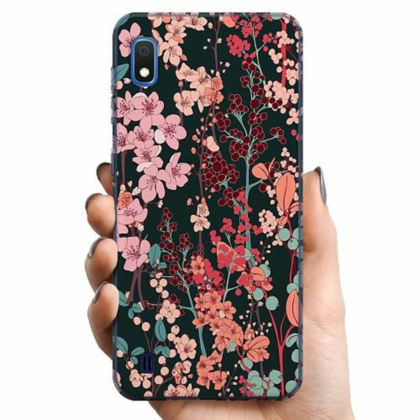 Samsung Galaxy A10 TPU Mobilskal Herbaceous Retro