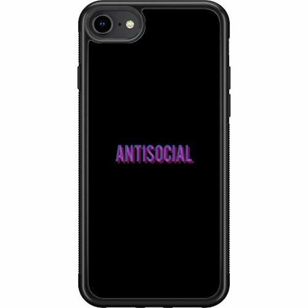 Apple iPhone 7 Soft Case (Svart) Antisocial
