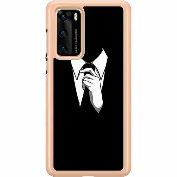 Huawei P40 Hard Case (Clear) Gentleman