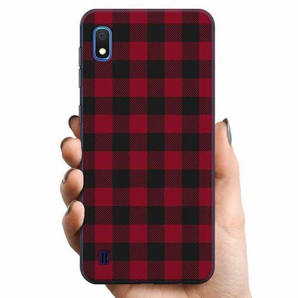 Samsung Galaxy A10 TPU Mobilskal Checkered Flannel