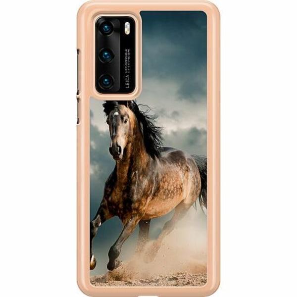Huawei P40 Hard Case (Clear) Häst