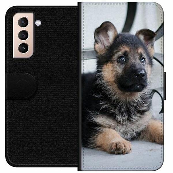 Samsung Galaxy S21 Wallet Case Schäfer Puppy