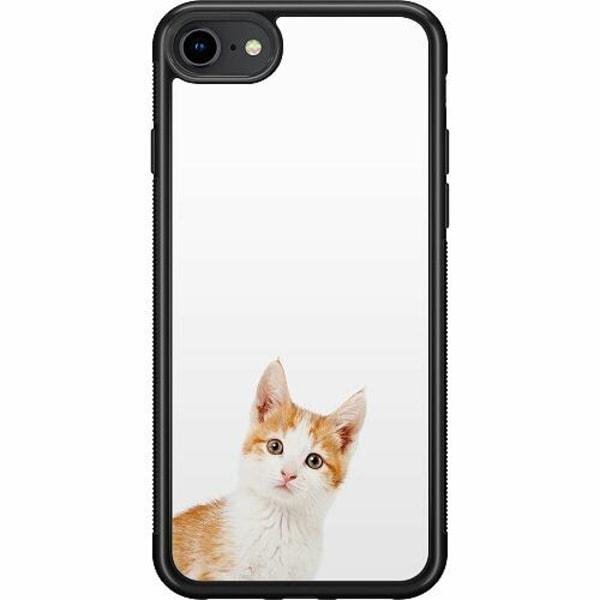Apple iPhone 7 Soft Case (Svart) PopUp Cat