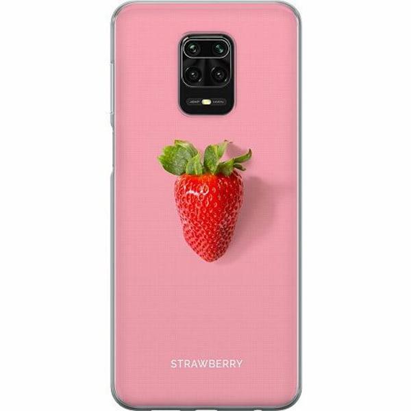 Xiaomi Redmi Note 9 Pro Mjukt skal - Strawberry