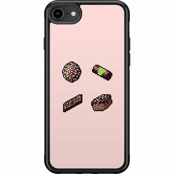 Apple iPhone 7 Soft Case (Svart) Dammsugare pixel art