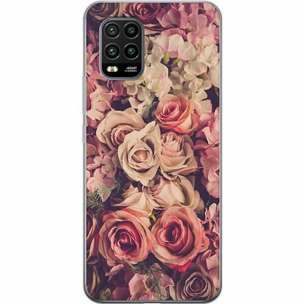 Xiaomi Mi 10 Lite TPU Mobilskal Blommor