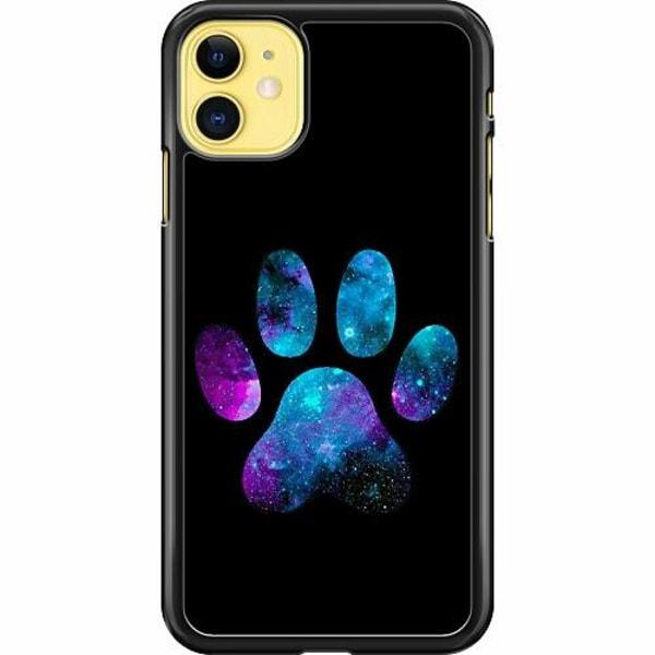 Apple iPhone 11 Hard Case (Svart) Galaxy Paw