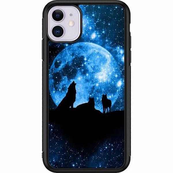 Apple iPhone 11 Soft Case (Svart) Statement Wolf 1055