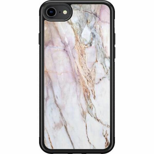 Apple iPhone 7 Soft Case (Svart) Marmor