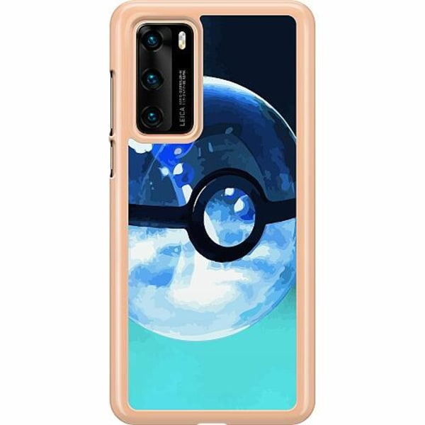 Huawei P40 Hard Case (Clear) Pokemon