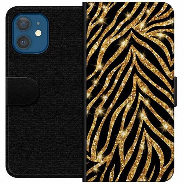 Apple iPhone 12 Wallet Case Gold & Glitter