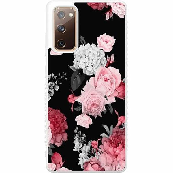 Samsung Galaxy S20 FE Soft Case (Vit) Blommor