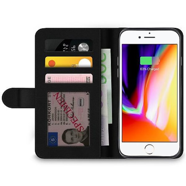 Apple iPhone 8 Wallet Case Crowded Hands