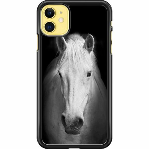 Apple iPhone 11 Hard Case (Svart) Häst