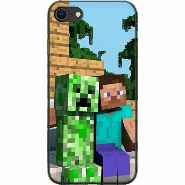 Apple iPhone 8 Mjukt skal - MineCraft
