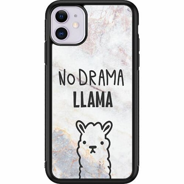 Apple iPhone 11 Soft Case (Svart) Llama Marble