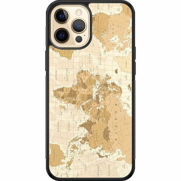 Apple iPhone 12 Pro Soft Case (Svart) Map