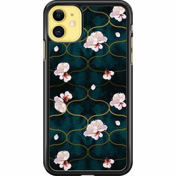 Apple iPhone 11 Hard Case (Svart) Blommor