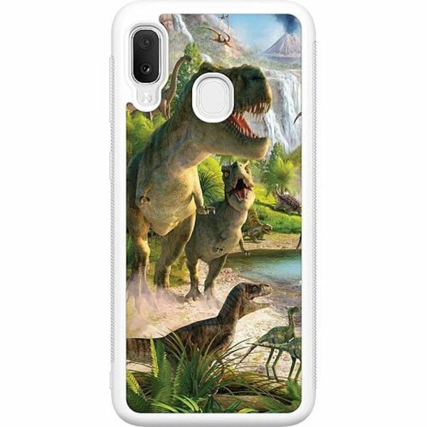 Samsung Galaxy A20e Soft Case (Vit) Dinosaurier