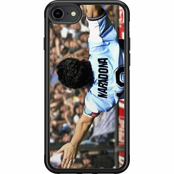 Apple iPhone 7 Soft Case (Svart) Diego Maradona