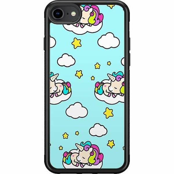 Apple iPhone 7 Soft Case (Svart) UNICORN