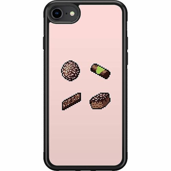 Apple iPhone 7 Soft Case (Svart) FIKA pixel art