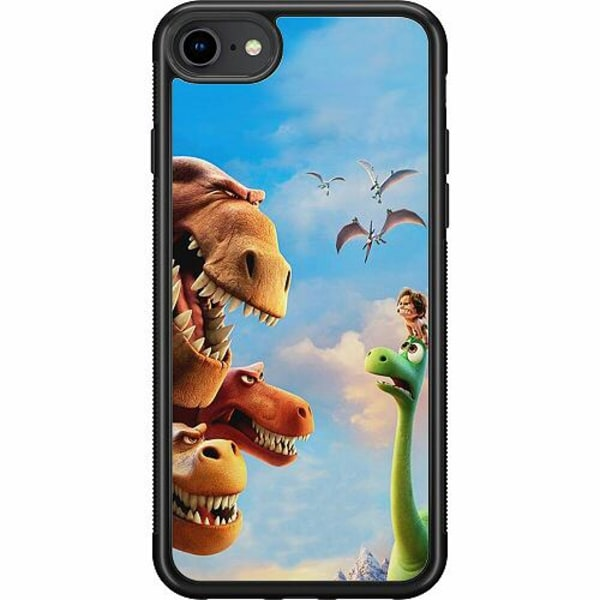 Apple iPhone 7 Soft Case (Svart) Dinosaurier
