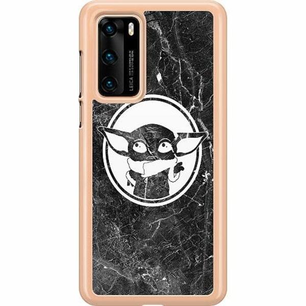 Huawei P40 Hard Case (Clear) Baby Yoda