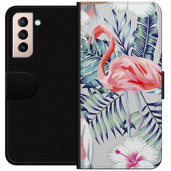 Samsung Galaxy S21 Wallet Case Flamingo