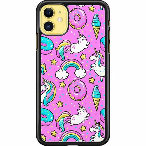 Apple iPhone 11 Hard Case (Svart) Unicorn