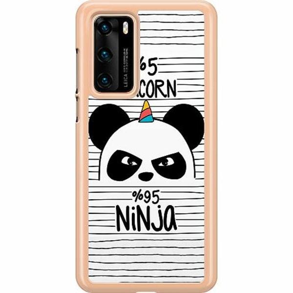 Huawei P40 Hard Case (Clear) Ninja Panda With A Twist