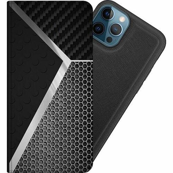 Apple iPhone 12 Pro Magnetic Wallet Case Metallic Pattern
