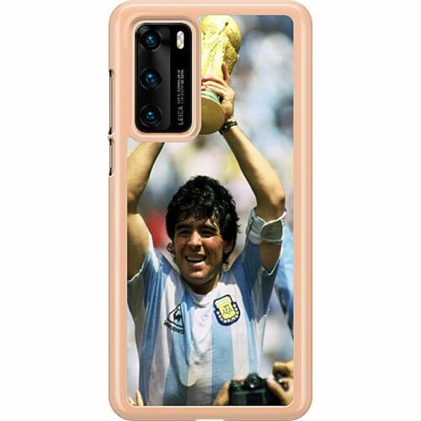 Huawei P40 Hard Case (Clear) Diego Maradona