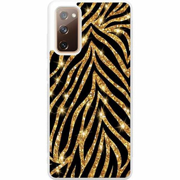 Samsung Galaxy S20 FE Soft Case (Vit) Gold & Glitter