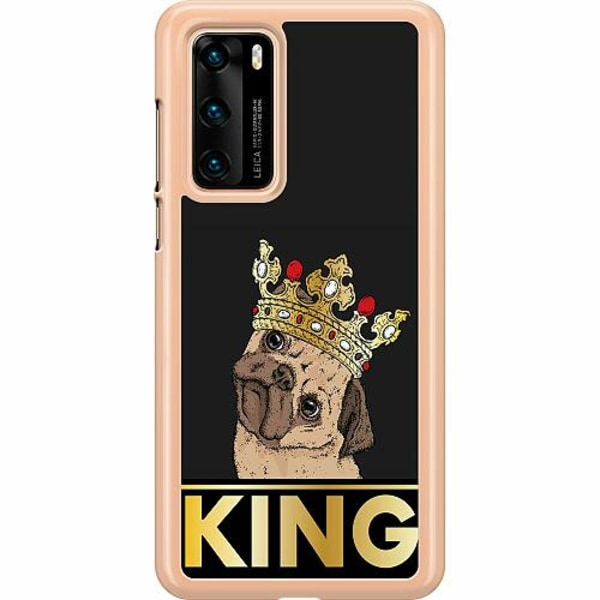 Huawei P40 Hard Case (Clear) KING of all Pugs