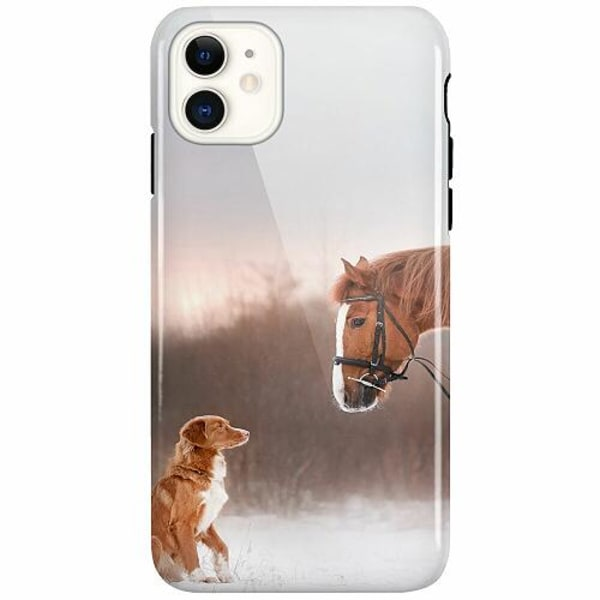 Apple iPhone 11 LUX Duo Case (Glansig)  Dog Meets Horse