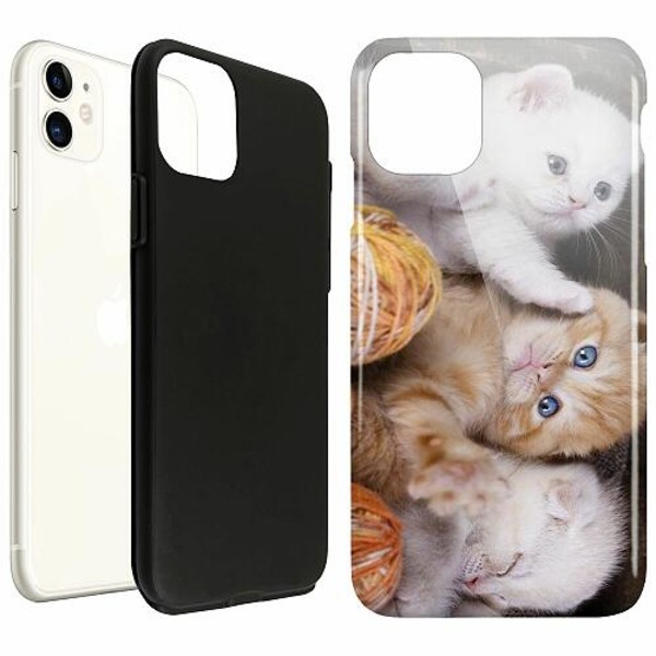 Apple iPhone 11 LUX Duo Case (Glansig)  Katter