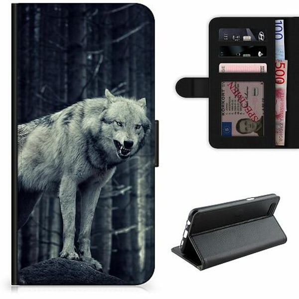 Apple iPhone 5 / 5s / SE Lyxigt Fodral Wolf / Varg