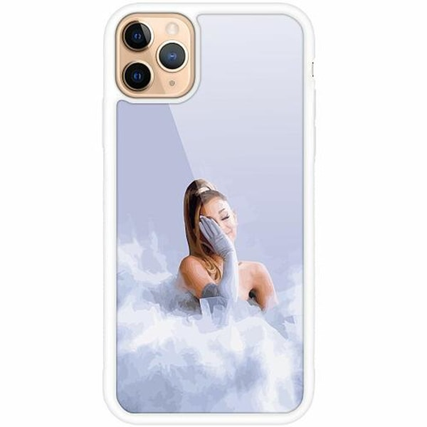 Apple iPhone 12 Pro Max Vitt Mobilskal med Glas Ariana Grand