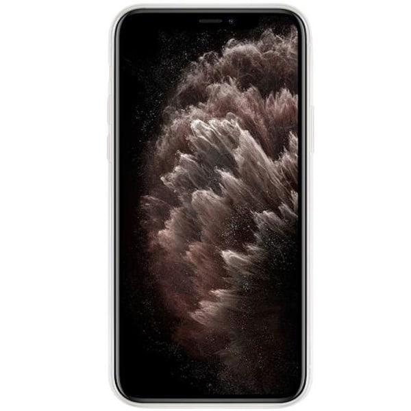 Apple iPhone 11 Pro Transparent Mobilskal med Glas Pink Shrubs