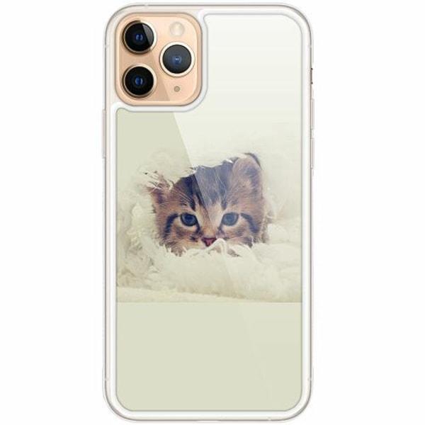 Apple iPhone 11 Pro Transparent Mobilskal med Glas Grumpy Cat
