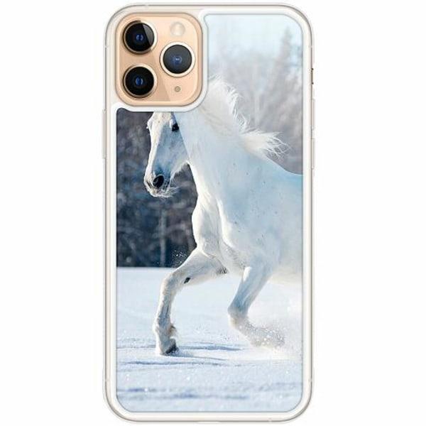 Apple iPhone 11 Pro Transparent Mobilskal med Glas Häst / Horse