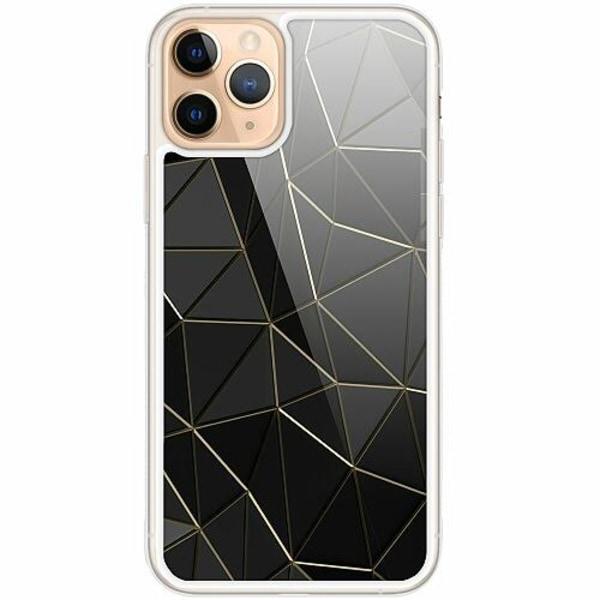 Apple iPhone 11 Pro Transparent Mobilskal med Glas Midnight