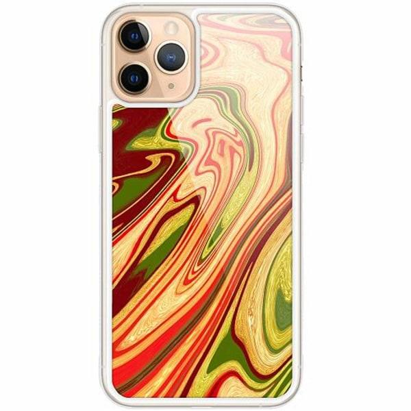 Apple iPhone 11 Pro Transparent Mobilskal med Glas Poolywhirl