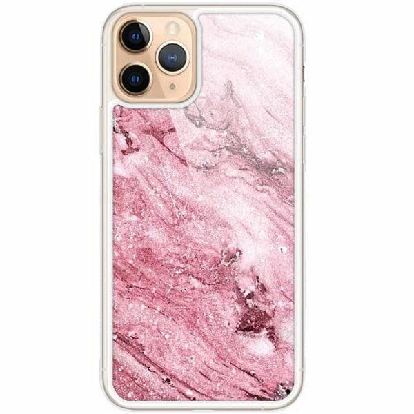 Apple iPhone 11 Pro Transparent Mobilskal med Glas Rosa