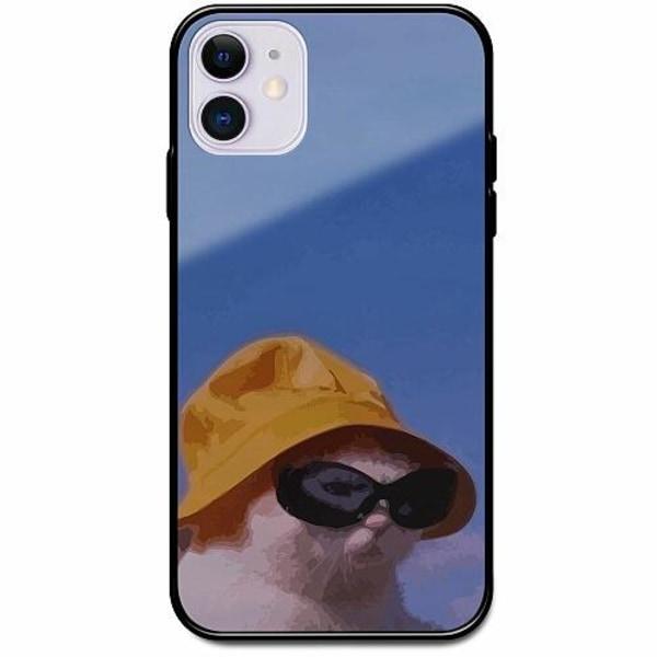 Apple iPhone 12 Svart Mobilskal med Glas Say What, Cat