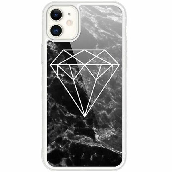 Apple iPhone 12 mini Transparent Mobilskal med Glas Diamant