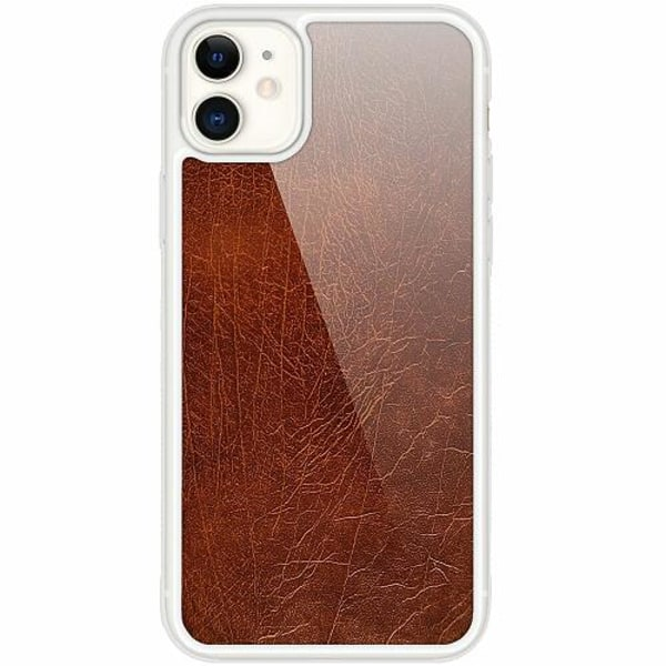 Apple iPhone 12 mini Transparent Mobilskal med Glas Läder