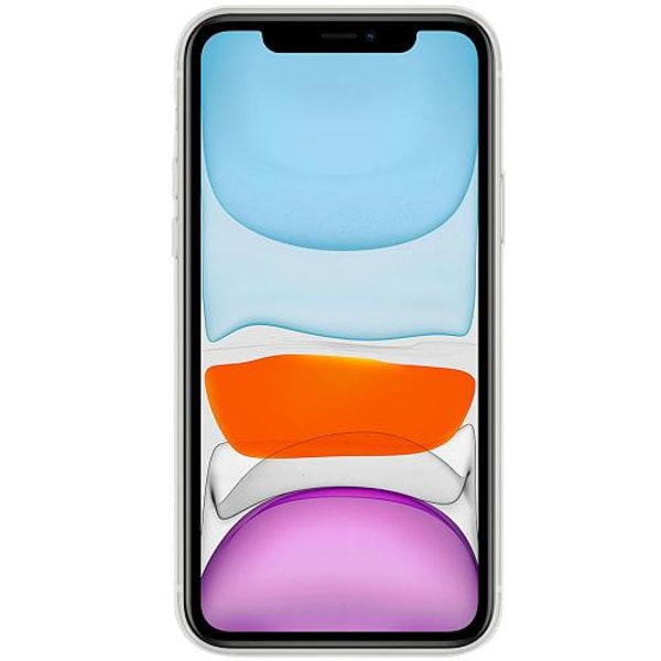 Apple iPhone 12 mini Transparent Mobilskal med Glas Vit Häst