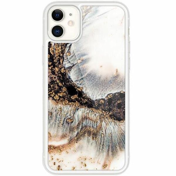 Apple iPhone 12 mini Transparent Mobilskal med Glas Mönster